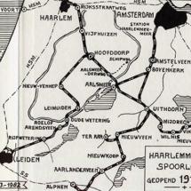 Routekaart Haarlemmermeerspoorlijen