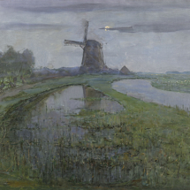 Oostzijdse_molen_aan_het_Gein_bij_maanlicht